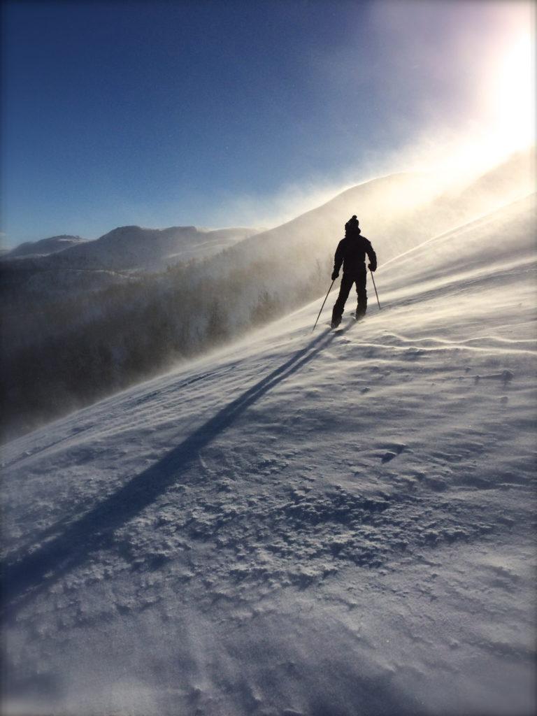 skiing story